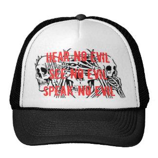 , Hear no evil See no evilSpeak no evil Trucker Hat
