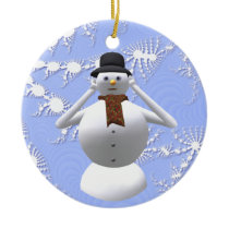 Hear No Evil Snowman Christmas Tree Decoration