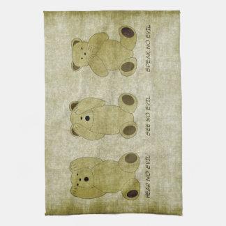 Hear No Evil Teddy Bears Kitchen Towel
