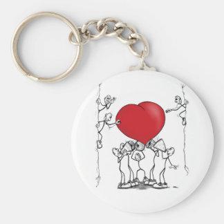 Hear on your heart basic round button keychain