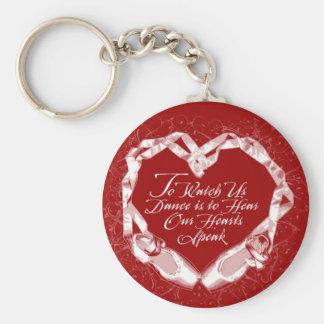 Hear Our Ballet Hearts Keychain