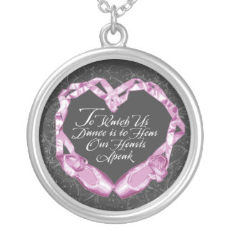 Hear Our Ballet Hearts Silver Plated Necklace