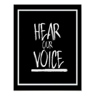 Hear Our Voice --  white - Poster
