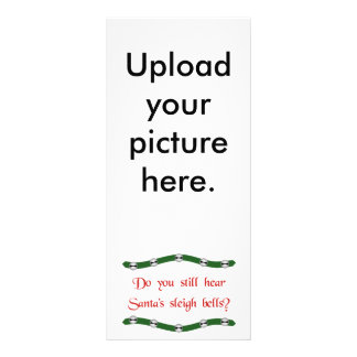 Hear Santa's sleigh bells? Christmas tees & gifts Rack Card