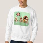 Hear, See, Speak No Evil Sock Monkeys Ice Cream Pullover Sweatshirt