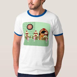 Hear, See, Speak No Evil Sock Monkeys Ice Cream T-Shirt