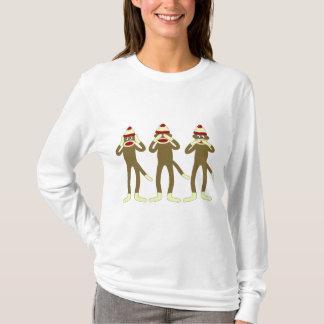 Hear, See, Speak No Evil Sock Monkeys T-Shirt