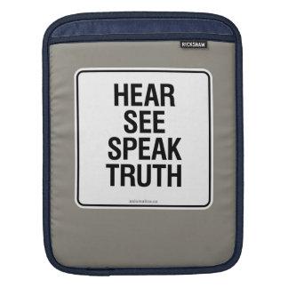 HEAR SEE SPEAK TRUTH SLEEVE FOR iPads