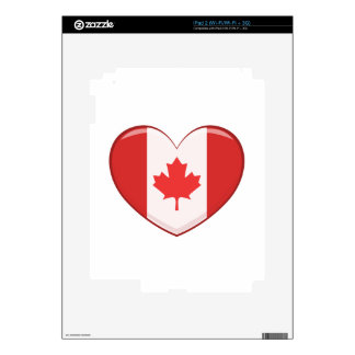 Hear Shaped Flag As A National Canadian Culture Sy iPad 2 Decals