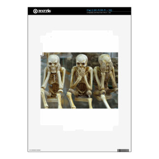 Hear, Speak, See No Evil Skeletons iPad 2 Decal