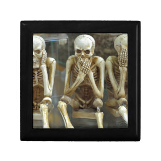 Hear, Speak, See No Evil Skeletons Jewelry Box