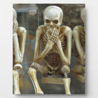 Hear, Speak, See No Evil Skeletons Plaque