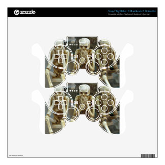 Hear, Speak, See No Evil Skeletons PS3 Controller Decals