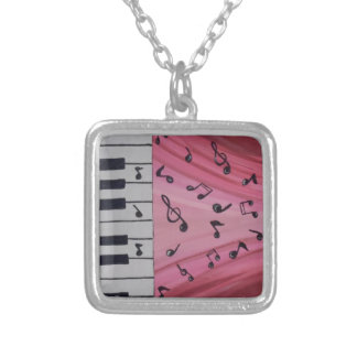 Hear the Music III Silver Plated Necklace