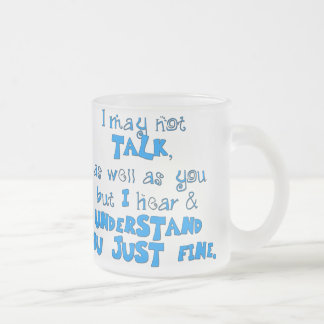 Hear & Understand Frosted Glass Coffee Mug