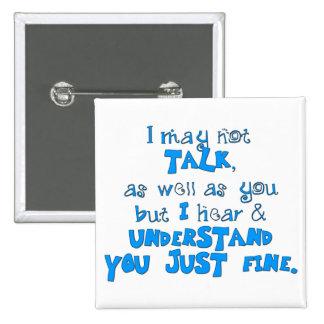 Hear & Understand Pinback Button