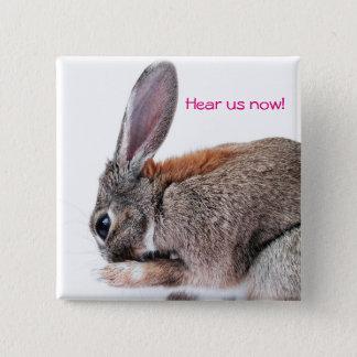 Hear us now! Design 2 Pinback Button
