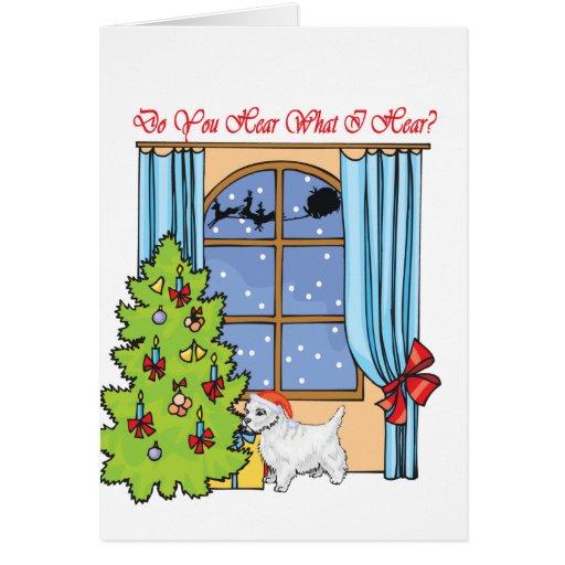 hear westie greeting card