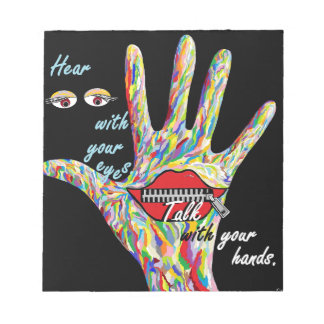 Hear with Your Eyes Notepad
