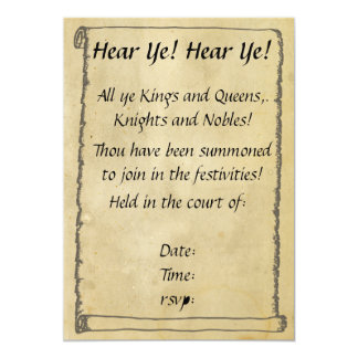 Hear Ye! Hear Ye! Scroll Invitations