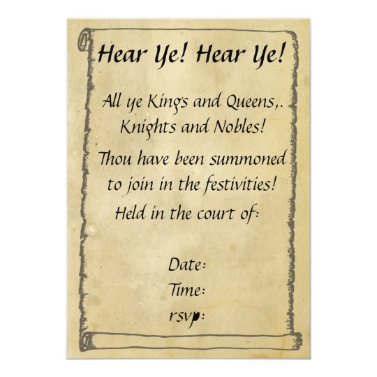 Medieval Scroll Invitations was Best Design To Create Best Invitations Template