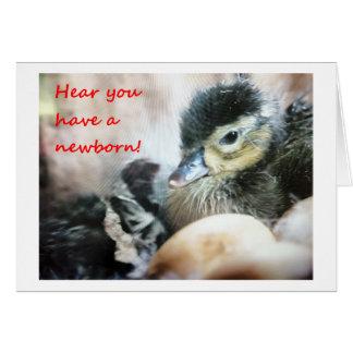 HEAR YOU HAVE A NEWBORN-CUTE DUCKLING CARD