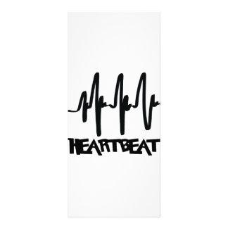 hearbeat ekg love beat custom rack card
