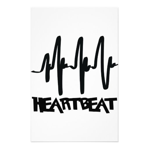 hearbeat ekg love beat customized stationery