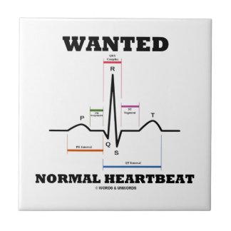 Hearbeat normal querido (electrocardiograma de ECG Azulejos Cerámicos