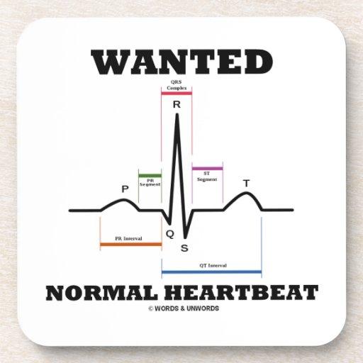 Hearbeat normal querido (electrocardiograma de posavasos de bebida