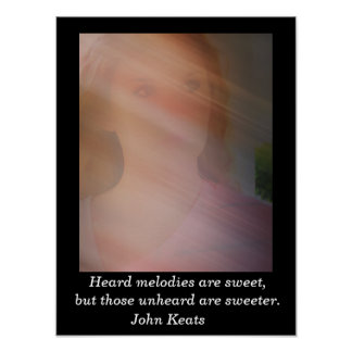 Heard melodies - John Keats - art print