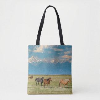 Heard of Horses in Hayfield Tote Bag