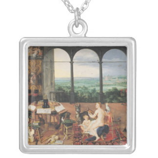 Hearing, 1617 square pendant necklace