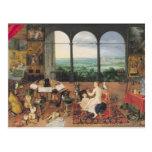 Hearing, 1617 postcard