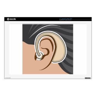 """Hearing Aid 17"""" Laptop Skins"""