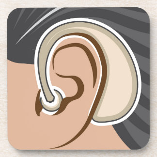 Hearing Aid Beverage Coaster
