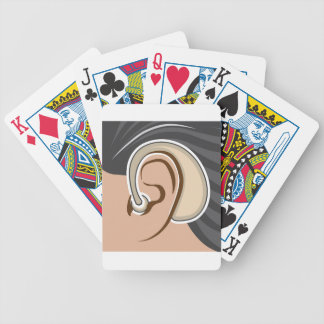 Hearing Aid Bicycle Playing Cards
