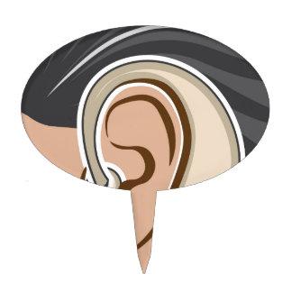 Hearing Aid Cake Topper