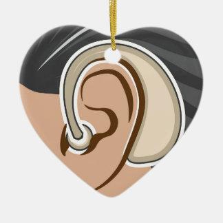 Hearing Aid Ceramic Ornament