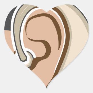 Hearing Aid Heart Sticker