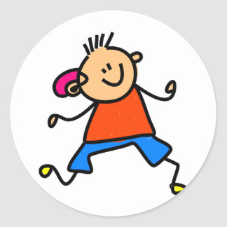 Hearing Aid Kid Classic Round Sticker