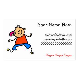 Hearing Aid Kid Double-Sided Standard Business Cards (Pack Of 100)