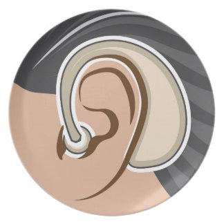 Hearing Aid Melamine Plate
