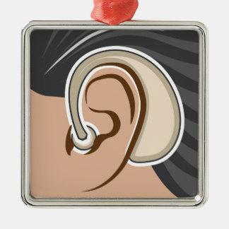 Hearing Aid Metal Ornament