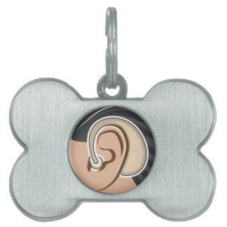 Hearing Aid Pet ID Tag
