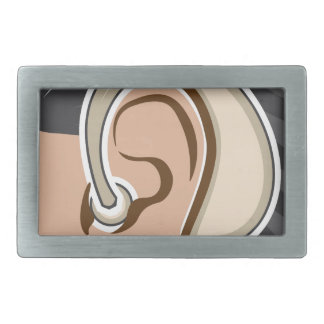 Hearing Aid Rectangular Belt Buckle