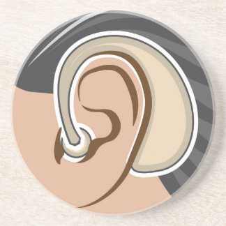 Hearing Aid Sandstone Coaster