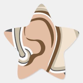 Hearing Aid Star Sticker
