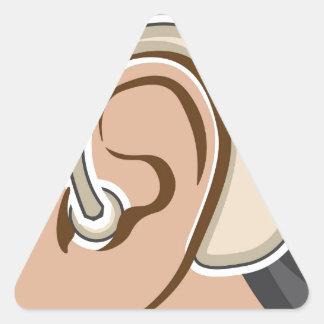 Hearing Aid Triangle Sticker