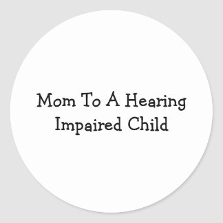 Hearing Impaired Classic Round Sticker